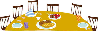 dinner table clipart. Delighful Clipart Clipart Dinner Table Throughout Dinner Table N