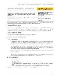 product disclosure sheet helaian makluman produk product disclosure sheet for online wasiat will writing services via bank2u 1 product disclosure sheet