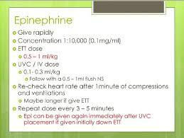 Nrp Epinephrine Doses Via 6th Edition Newborn Assessment