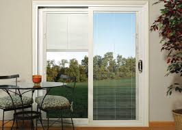 patio doors with blinds. this kind of patio door is also quite popular since it has the attractive design and good functionality. both sliding folding doors are available in with blinds d
