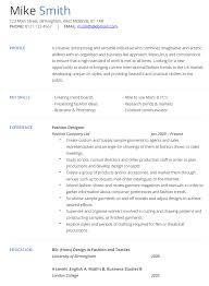 Resume Template Fashion Resume Format Free Career Resume Template