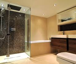 modern bathroom shower ideas. Bathroom Showers Ideas Contemporary With Alcove Doors Dark. Image By: Kia Designs Modern Shower D