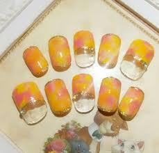 ネイル 夏 ピンク オレンジ