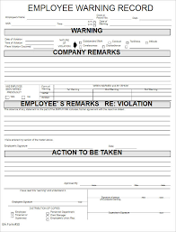 28 Images Of Warning Employee Template Word Bfegy Com