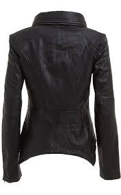springle women classic leather jackets3