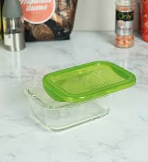 luminarc keep n box green 1160 ml storage container set of 2