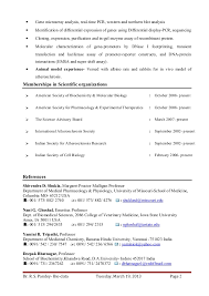 Sample Resume For Botany Lecturer