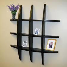 wall furniture design. Elegant Design Of Living Room Wall Shelves: Wonderful Shelves With Black Wooden Furniture N