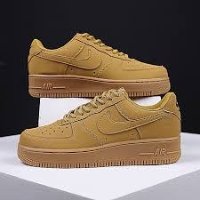 uni air force 1 gs leather fashion sneakers yellow