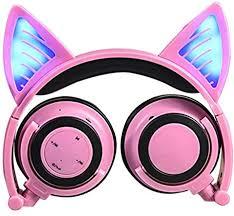 MonkeyJack Headphones with Cat Ear <b>Wireless</b> Bluetooth <b>On</b>-<b>ear</b> ...