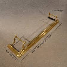 antique brass fire fender guard foot rail suits antique fenders