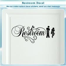 restroom vinyl sticker door bathroom sign men women restroom art decal 067 home garden home décor decals stickers vinyl art