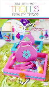 trolls party ideas diy trolls beauty trays