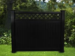 Black vinyl fence Modern Image Illusions Vinyl Fence Black Vinyl Privacy Lattice Top Fence Ft Ft Posts Not Included