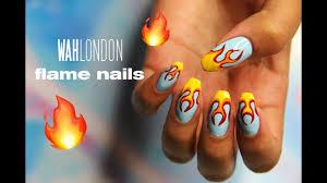 Wah Nail Designs Flame Nail Art Wah London