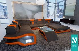 Nativo Mix Ledersofa Designer Sofa Hermes Xxl Mit Led