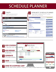Online Course Schedule Planner Schedule Planner Mid State Technical College