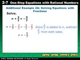 additional example 2a solving equations with fractions