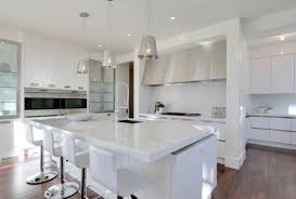All White Kitchen Modern All White Kitchen Electric Cooktop Side By Side