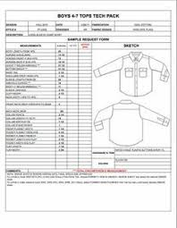 product spec sheet template mens spec sheet sample womens mens childrens plus size