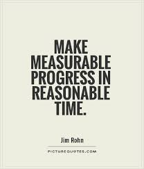 Progress Quotes Simple Make Measurable Progress In Reasonable Time Picture Quotes