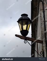 Small Street Light Old Street Lamp On Small City Stock Photo Edit Now 1031236528