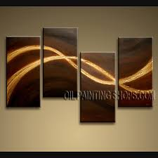 abstrack painting dark brown gold light four panels elegance decorative metal modern decorating room large contemporary on huge modern wall art canvas with wall art top ten gallery large contemporary wall art discount