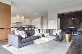 a dove gray velvety sofa sets a stylish scene for lounging and entertaining throughout the