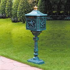cast aluminum mailbox. Simple Aluminum Cast Aluminum Mailbox Color On L