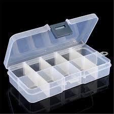 1PCS Translucent 10 Cells Little Item Pill Nail Art Storage Case ...