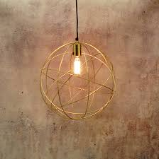 gold brass globe ceiling pendant light orb chandelier