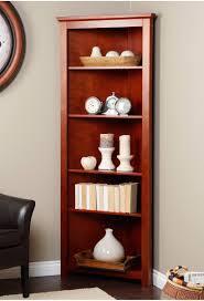 Corner Book Shelves Corner Bookcase Redford Cherry Corner