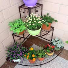 garden rack. Image Is Loading Corner-Plant-Stand-3-Tier-Shelves-Indoor-Outdoor- Garden Rack