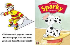 sparky the fire dog craft. sparky.org website sparky the fire dog story and activities craft