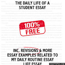daily life of a student essay the daily life of a student essay