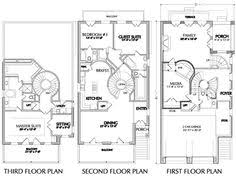 Spectacular Design Three Story House Plans For Narrow Lot 9 Plans Three Story Floor Plans
