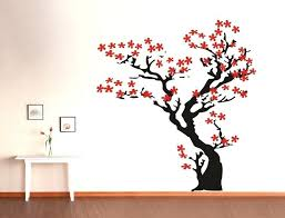 asian wall decal cherry blossom wall decal tree wall decal nursery wall decals asian wall decals