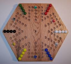 Wooden Game With Marbles Wooden Game Boards Wooden Marble Game Board Aggravation 100 7