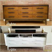 white dresser tv stand. Fine White Transformed Mid Century Dresser Into Tv Stand Painted White And Stained  The Top Warm Walnut Throughout White Dresser Tv Stand N