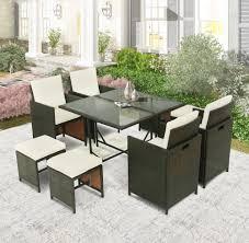 9 pieces patio dining sets outdoor