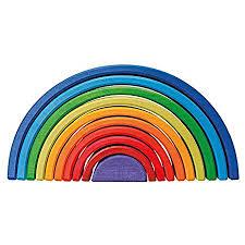 Manchmal erscheint über einem kräftigen hauptregenbogen noch ein schwächerer. Grimm S Spiel Und Holz Design Regenbogen 10 Teilig Invertiert Amazon De Spielzeug