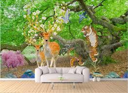 3d Room Wallpaper Custom Photo Mural Dream Forest <b>Elk</b> Porch ...