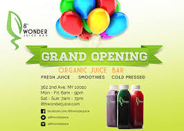 bar grand opening flyer 8th wonder juice bar flyer on behance