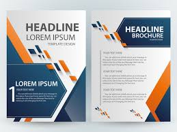 Brochure Template Design Free Brochure Template Design With Abstract Modern Style Free