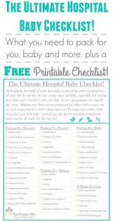 Baby Check List The Ultimate Hospital Baby Checklist Theprojectpile Com