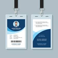 Simple And Clean Employee Id Card Design Template Vector