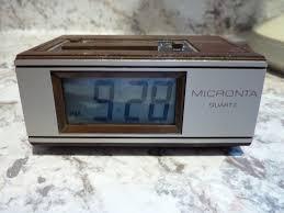 rare battery power radio s micronta 63 745 travel alarm clock good cond