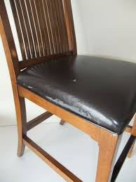 makeover for torn leather dining room chairs washable seat covers