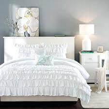 intelligent design waterfall comforter set ruffle white textured twin xl