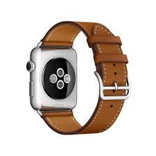 42mm black brown leather watch strap watch band for apple watch